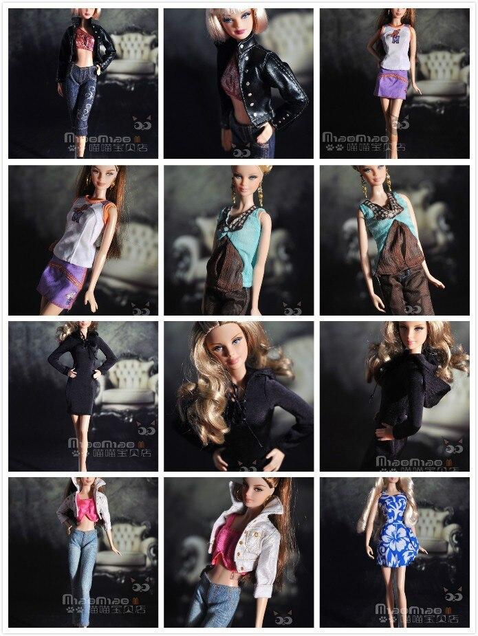Set de ropa a la moda para Barbie, 10 unidades por lote, precio al por mayor