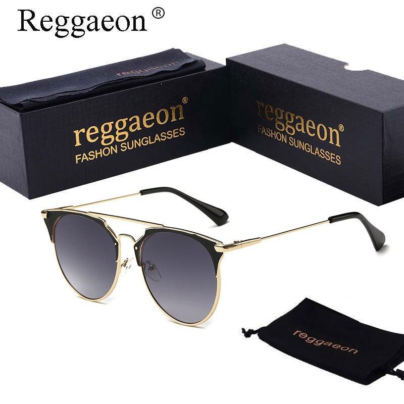 2018 reggaeon de ojo de gato gafas de sol de las mujeres o menBrand diseñador gafas de sol d hembra mujeres gafas de sol Vintage marco de metal