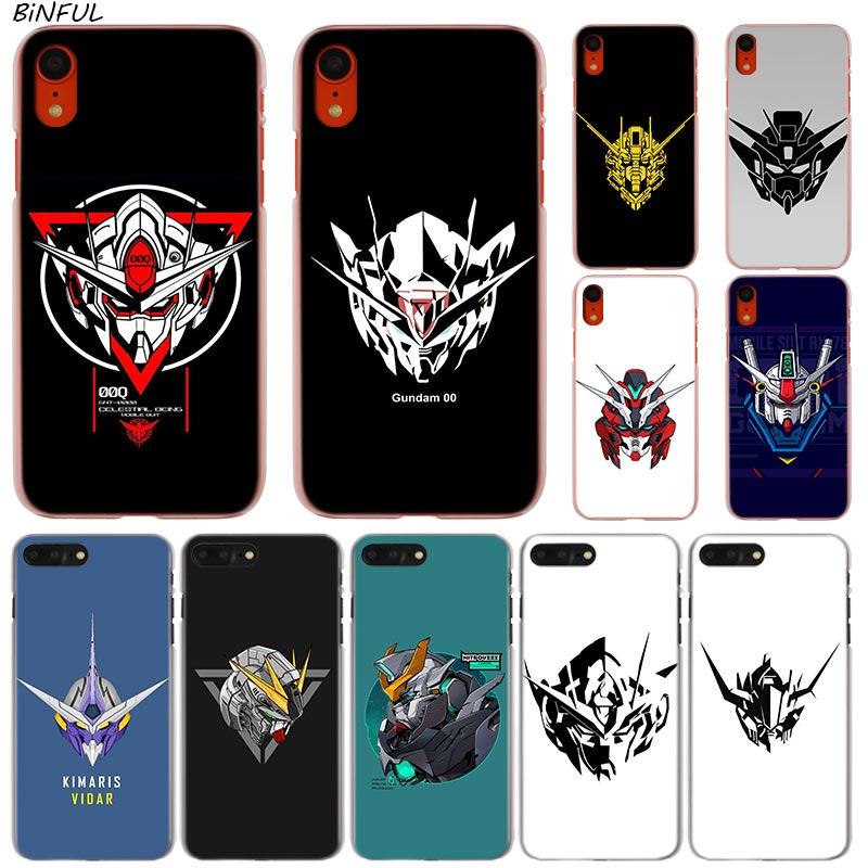 Gundam la moda novedosa transparente funda de teléfono dura caso para iPhone X XS X Max XR 8 7 6 6s Plus 5 SE 5C 4 4S