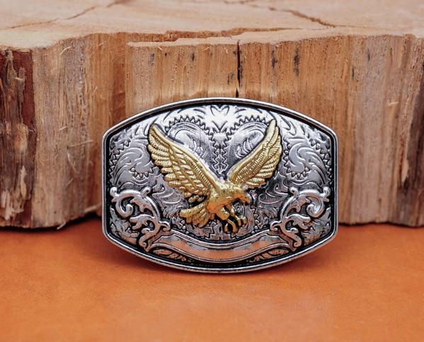 6 pc Cowboy Cowgirl Ocidental Texas Águia de Ouro Leathercraft Cinto Bolsa Carteira de couro Hatband Selas de Cavalo Conchos Decorativos Definir
