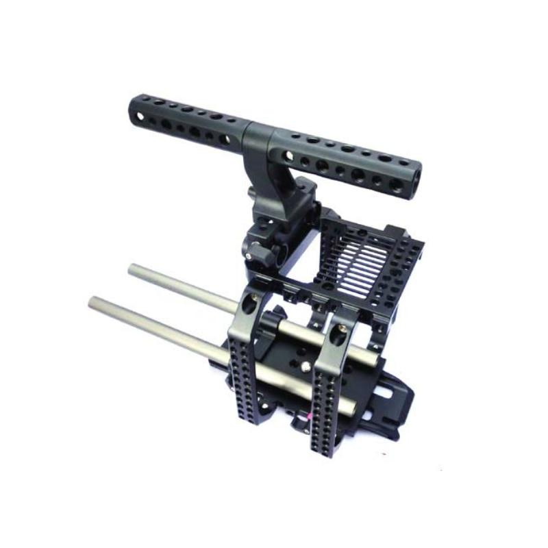 Para RED SCARLET EPIC 15mm rail sistema de soporte de cámara Hooton Cámara Rig Kit jaula placa base superior empuñadura de manija