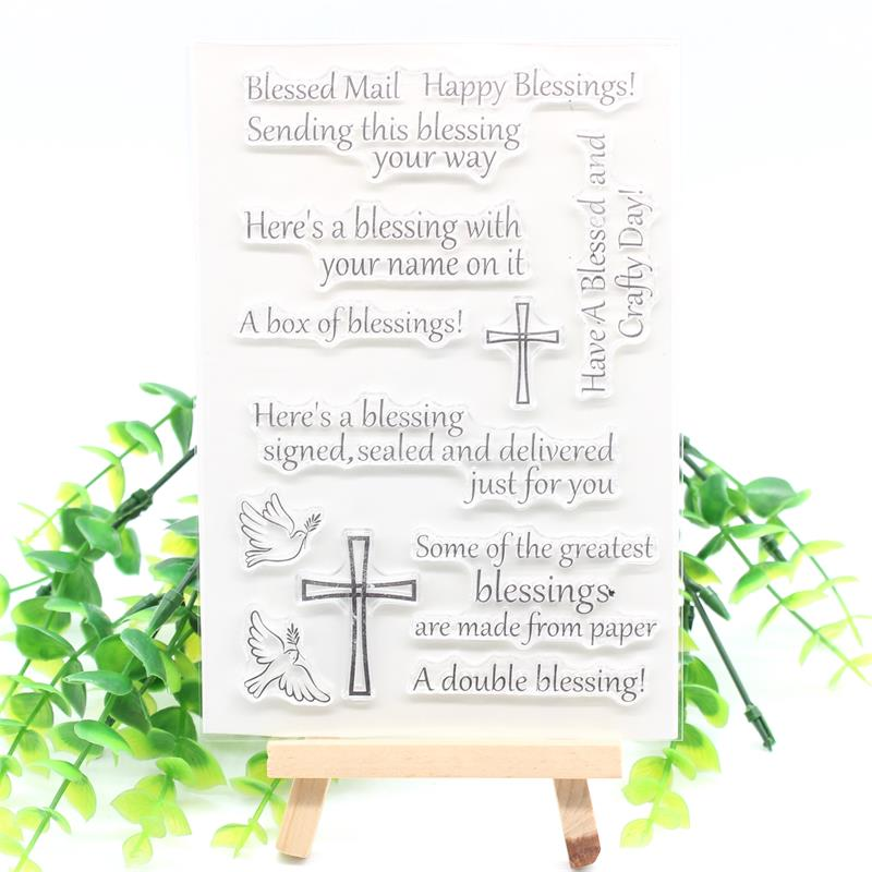 KSCRAFT Blessing Mail Transparent Clear Silicone Stamps for DIY Scrapbooking/Card Making/Kids Fun Decoration Supplies 576
