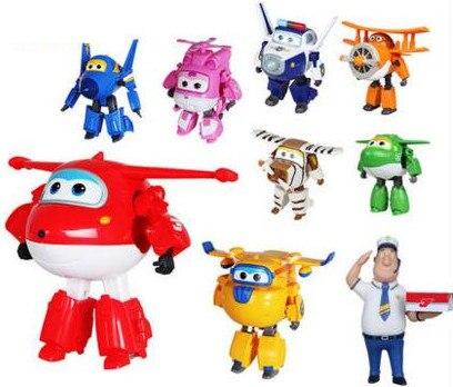 15 см Супер Крылья большой размер самолет Трансформация Робот фигурки игрушки Супер крыло мини Джетт игрушка для Рождественский подарок-50