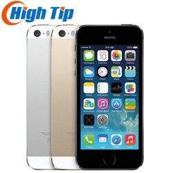 Apple iphone 5S, original, desbloqueado de fábrica, 16gb/32gb/64gb rom, 8mp, touch id, icloud app loja wifi gps 4.0 polegadas impressão digital ios
