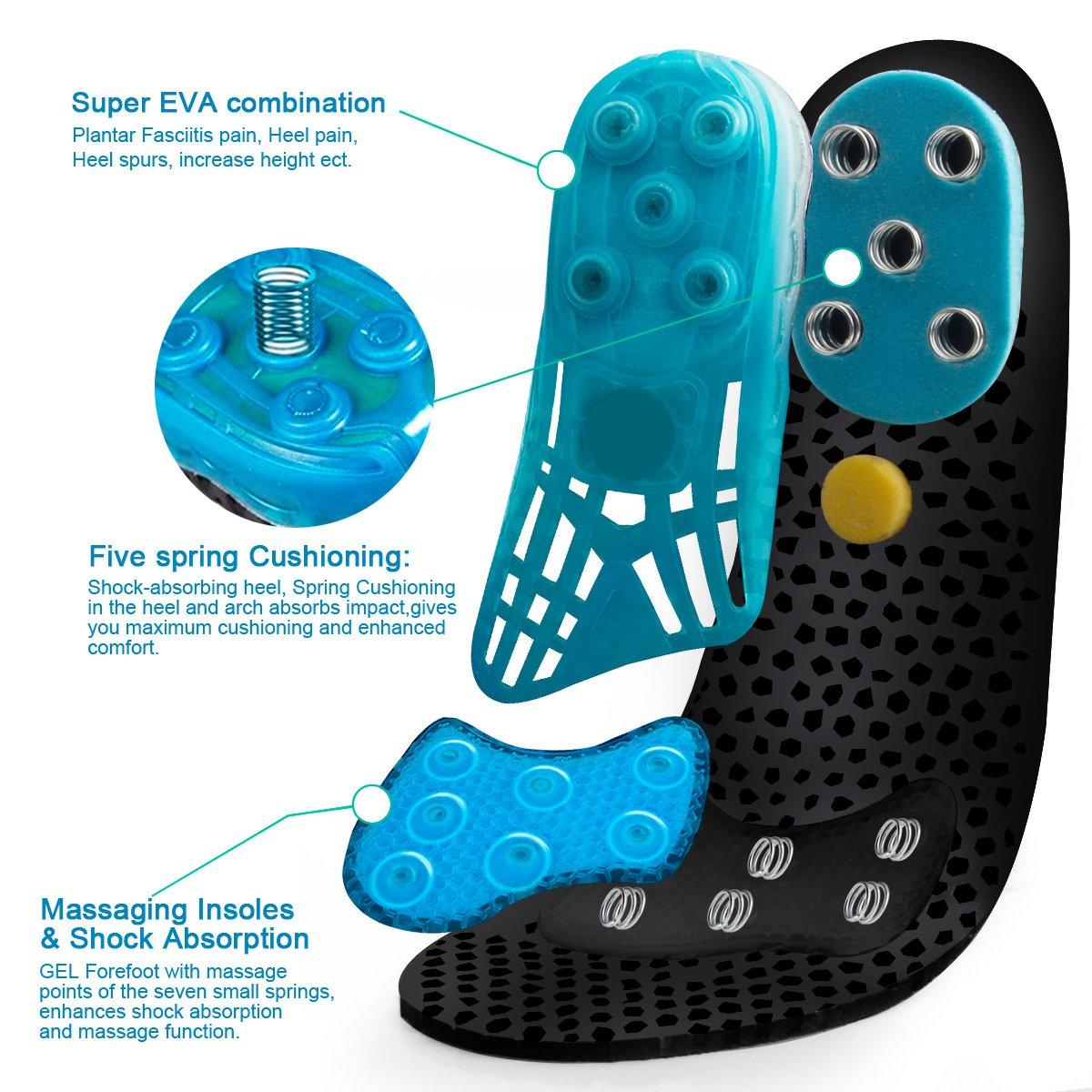 Plantilla para calzado deportivo de Gel de sílice, almohadillas ortopédicas de alto impacto para amortiguar la absorción de golpes, almohadillas para zapatos, almohadillas para masaje de pies