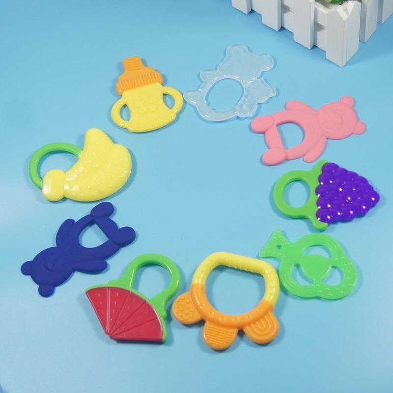 Juguete para Recién Nacido mordedor de seguridad mordedor de goma color dibujos animados mordedores de silicona 1 Uds mordedor para dentición de bebé pasta de dientes