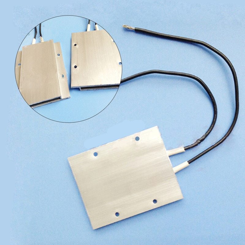 DWZ 12V 60W 180C 77x62x6mm Aluminium PTC Heizelement Thermostat Heizung Platte