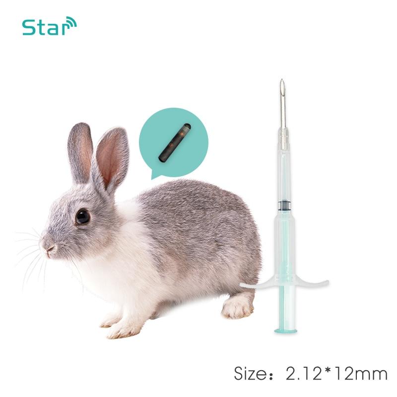 40 pces 2.12*12mm FDX-B 134.2 khz rfid microchip injector pet chip seringa, animal de estimação identificação que segue rfid tag com agulha