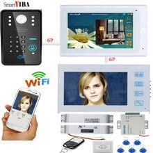 SmartYIBA IOS Andriod WIFI RFID Passwort Entsperren Tür Telefon 12 V Netzteil Control Elektrische Drop-riegelschloss Türklingel Intercom