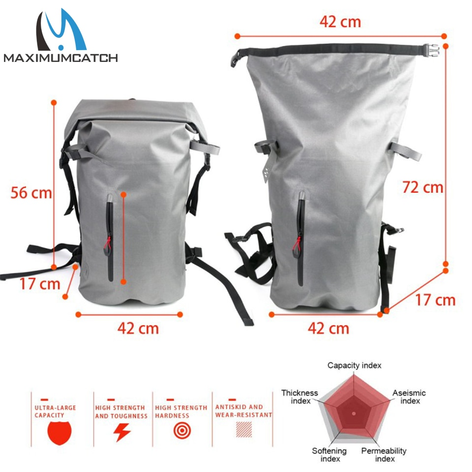 Maximumcatch Airflex 100% Waterproof Fishing Bag 840D Polyurethane Multifunctional Backpack Duffel Waist Bag Fishing Tackle enlarge