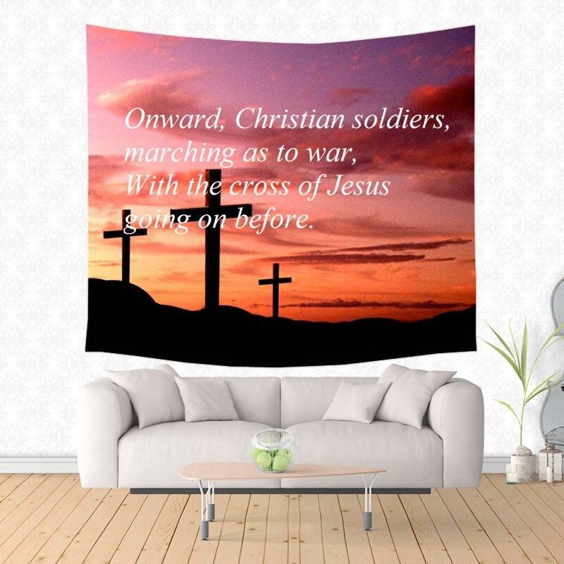 Verso bíblico cristiano patrón tapiz decorativo alfombra colgante para pared ropa de cama salida puerta cortina Textiles