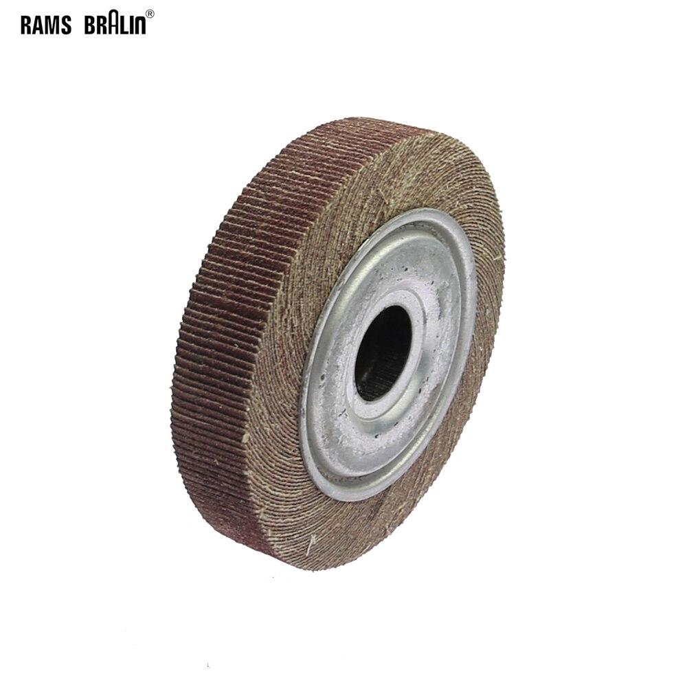 "6""*1""*1"" Flange Abrasive Flap Wheel Sanding Cloth Mop Wheel Metal Wood Polishing Grinding"