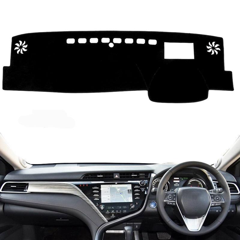 Car Dashboard Cover Mat Pad Dash Dashmat ANTI-UV Sun Shade Instrument Protect Carpet Accessories For Toyota Camry 2018 2019 RHD