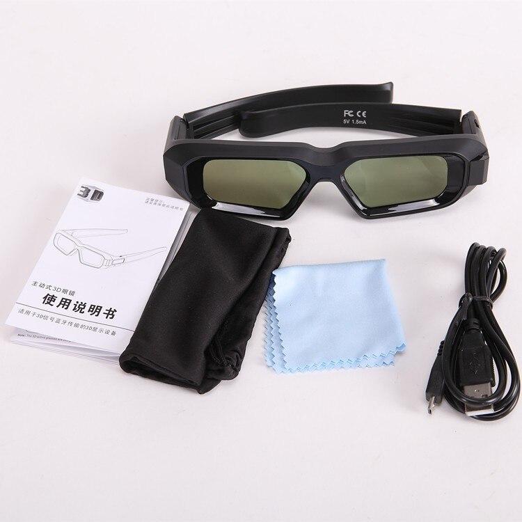 ¡Nueva versión 2017! gafas 3D con obturador Bluetooth RF recargable por usb para proyector EPSON TW5200/6600/5300/5210/5350