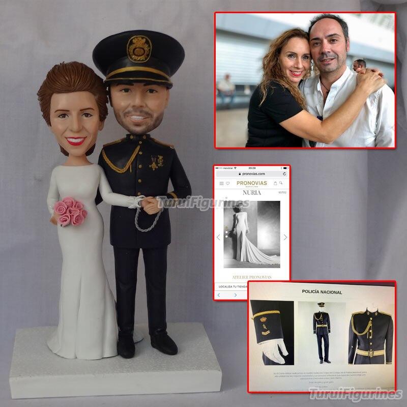 Figuritas de Turui, policía y enfermera, torta de boda, Topper divertido, pareja, torta, Topper especial, hermano, marido, tío, regalo, fiesta, favor