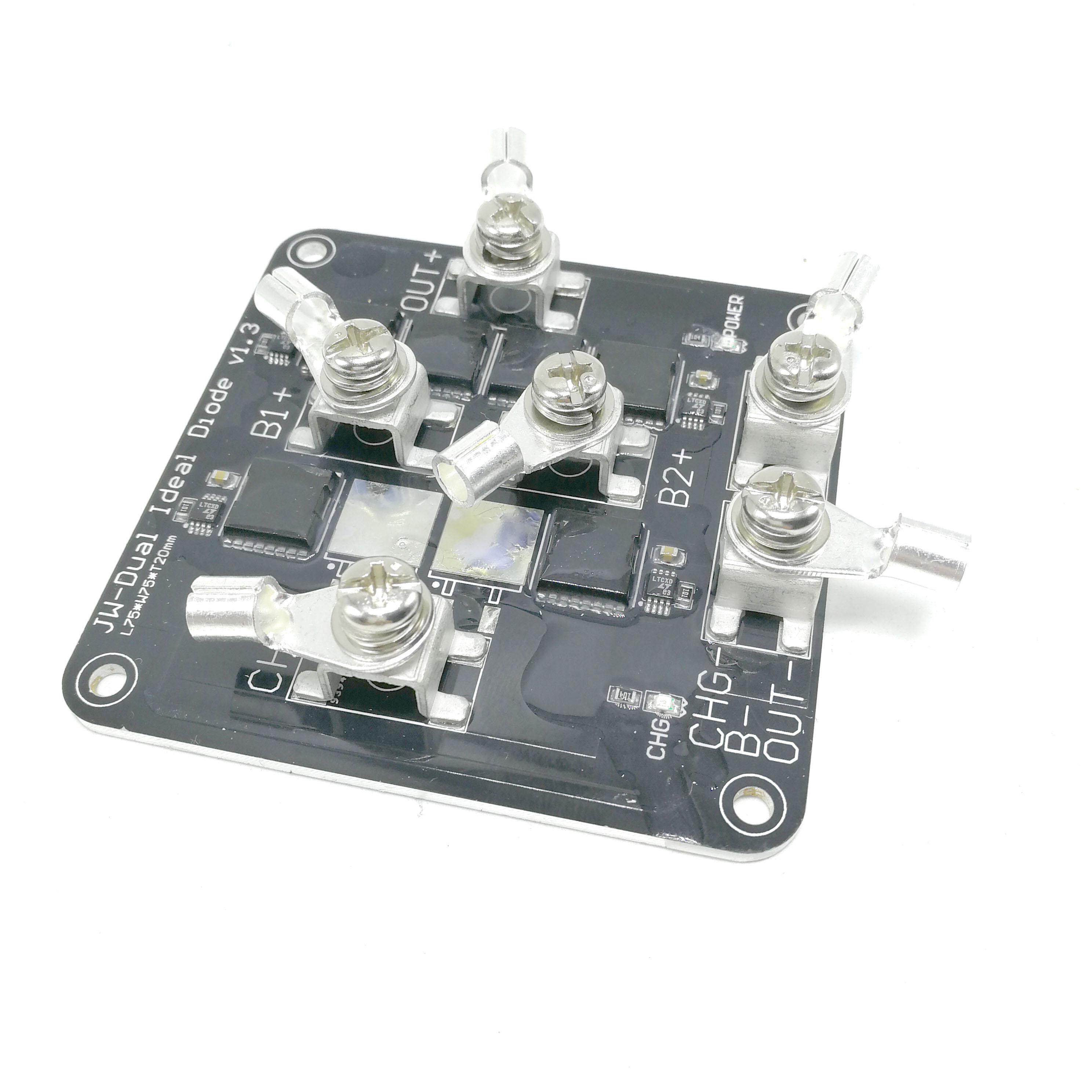 Interruptor inteligente de aislador de doble batería para vehículo eléctrico de diodo Ideal con 100 a tres baterías