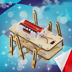 Robô elétrico modelo de brinquedo diy física mini motor kits de circuito elétrico física ciência experiências educacionais