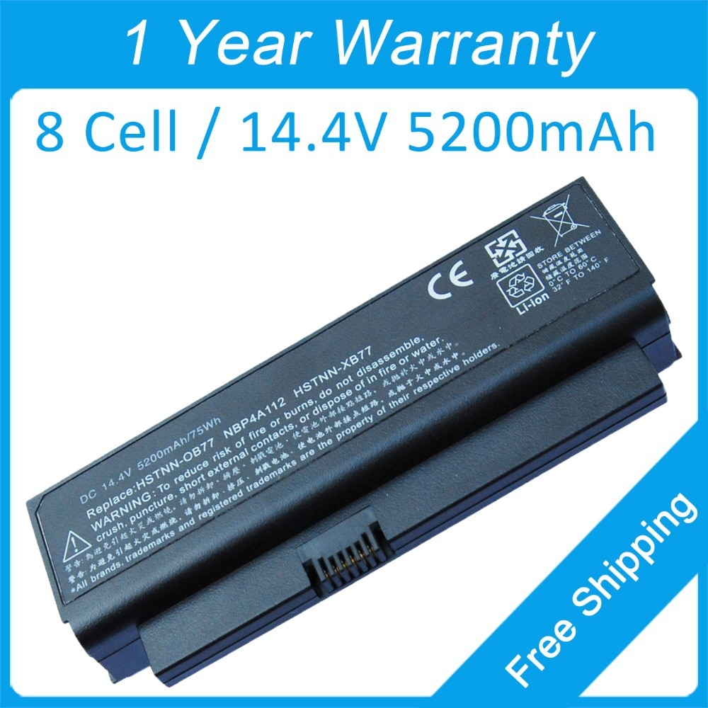 New 8 cell 5200mah laptop battery for hp Business Notebook 2230s 493202-001 501717-362 HSTNN-XB91 HSTNN-OB92 NBP4A112B1