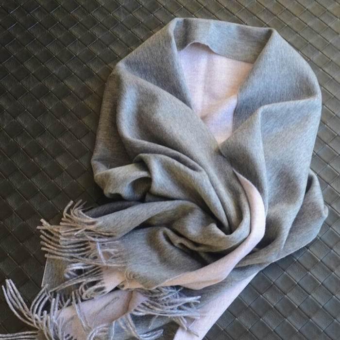 100% de lana rosa bufanda de moda para mujer marrón gris blanco azul envoltura alta calidad Tela natural Extra suave nuevos de abrigo 2018