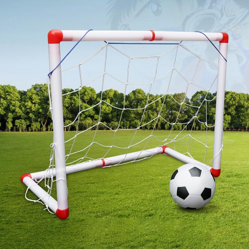 Large Size Portable Folding Children Football Net Door Sports Toys Set Soccer Gate Inflator Toys For Children