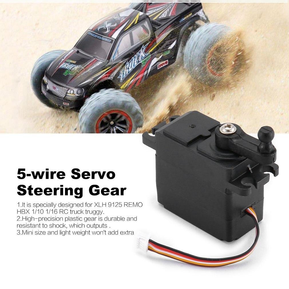 5-wire Servo Steering Gear Micro Servo Motor Plastic Gear High Torque Servos Horns For XLH 9125 REMO HBX 1/10 1/16 RC Truck