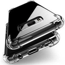 Antiurto Trasparente Della Cassa Del Silicone per Samsung Galaxy S7 Bordo A5 A7 J5 J7 2017 S8 S9 S10 Più Nota 9 8 A6 A8 Più A7 2018 A50 Copertura