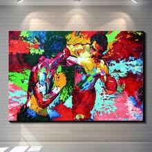 Rocky vs Apollo-Leroy Neiman Boksen Canvas Schilderij Woonkamer Home Decor Moderne Muurschildering Art Olieverf