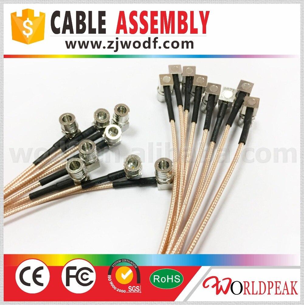 كابل QMA ذكر R/A محوري عالي التردد, شحن مجاني ، 5 قطع ، طول الكابل 30 سنتيمتر