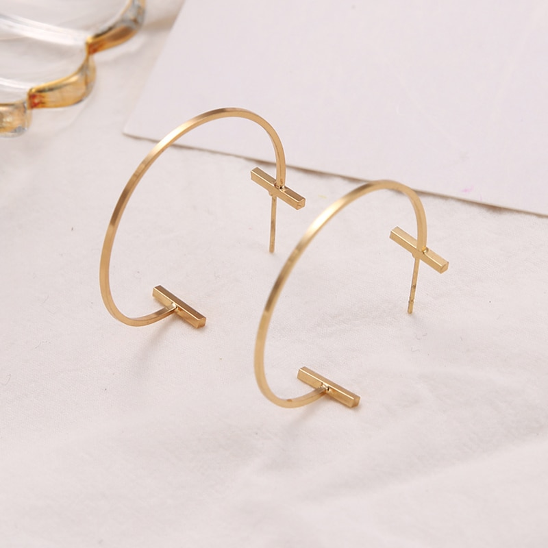 New Fashion Drop Round  Earrings For Women ZA Geometric Earrings Wedding Party Vintage Gifts Bohemian Bijoux