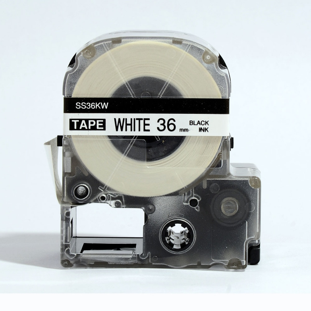 Бесплатная доставка 5PK/лот совместимая kingjim лента SS36 кВт 36 мм черная на белой ленте для LW-900P, OK900P, SR3900C, SR950, SR750, SR3900