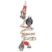 Jouets perroquet oiseau de compagnie 160cm de Long   Corde sur pied, Cage à oiseaux, décoration, jouet descalade, perroquet Cage à oiseaux, jouets corde cloche
