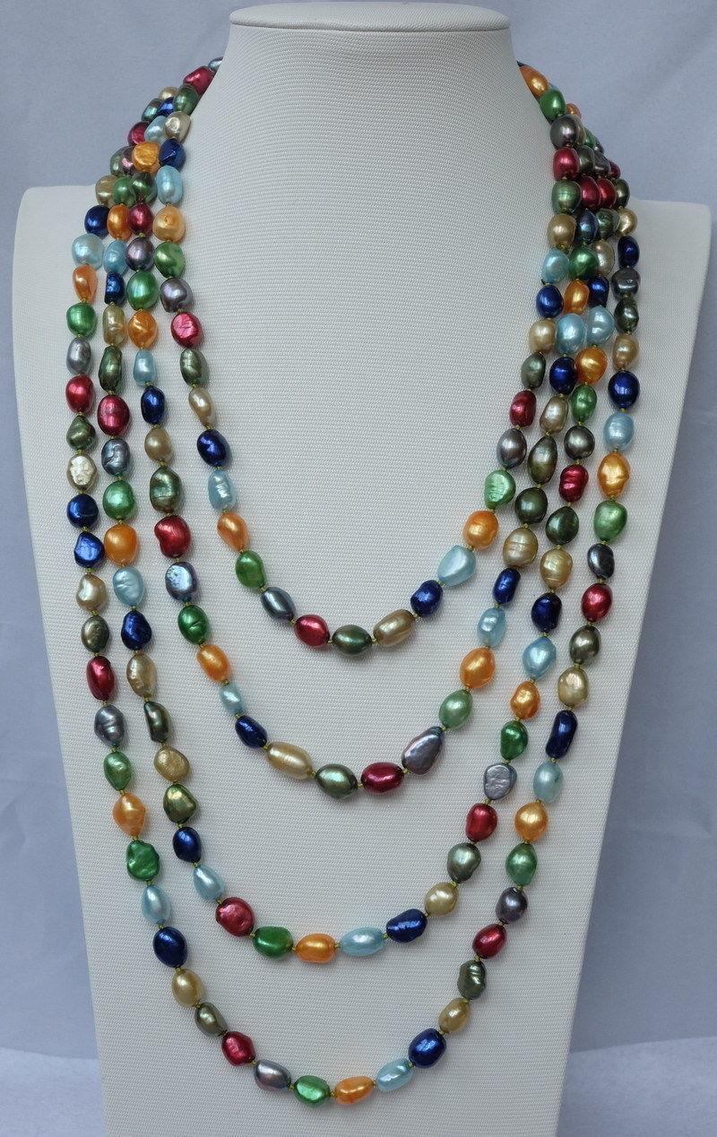 Collar de perlas FW barroco de 10x10 jewerly freeshipping 100 varios colores
