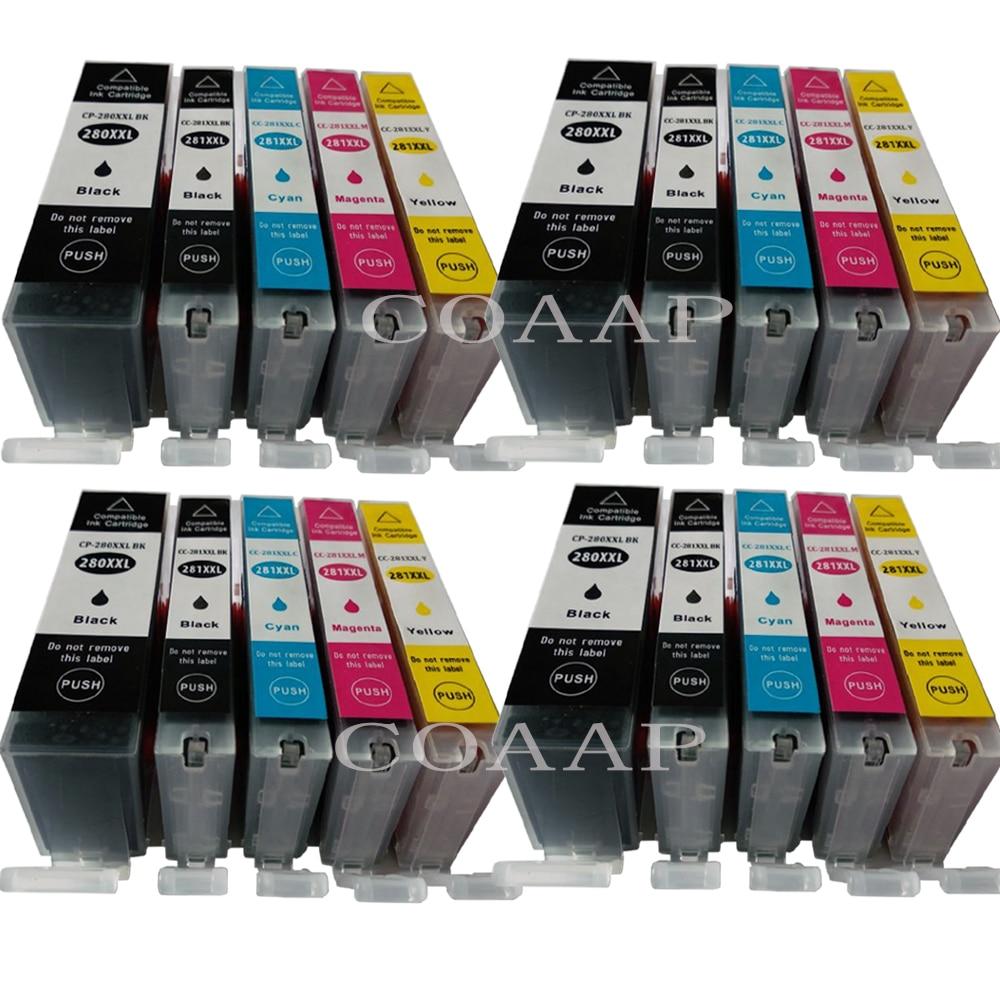 Tintas compatibles para Canon PGI 280 CLI 281 PGI280XL CLI281XL cartucho de tinta para PIXMA TR7520 TR8520 TS6120 TS8120 TS9120 impresora