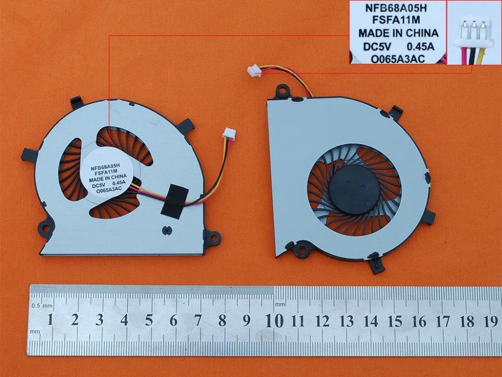 Nuevo Ventilador de refrigeración para portátil para Toshiba Satellite P55W-B Original PN: BLS NFB68A05H CPU enfriador/radiador