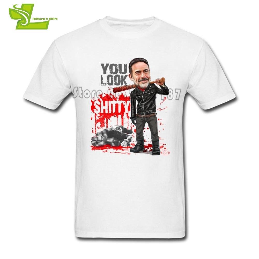Camiseta I Am Negan, camiseta para adolescentes Negan Lucille, nueva llegada, camisetas sueltas, camiseta The Walking Dead Man 100%, Tops de algodón con imagen de padre