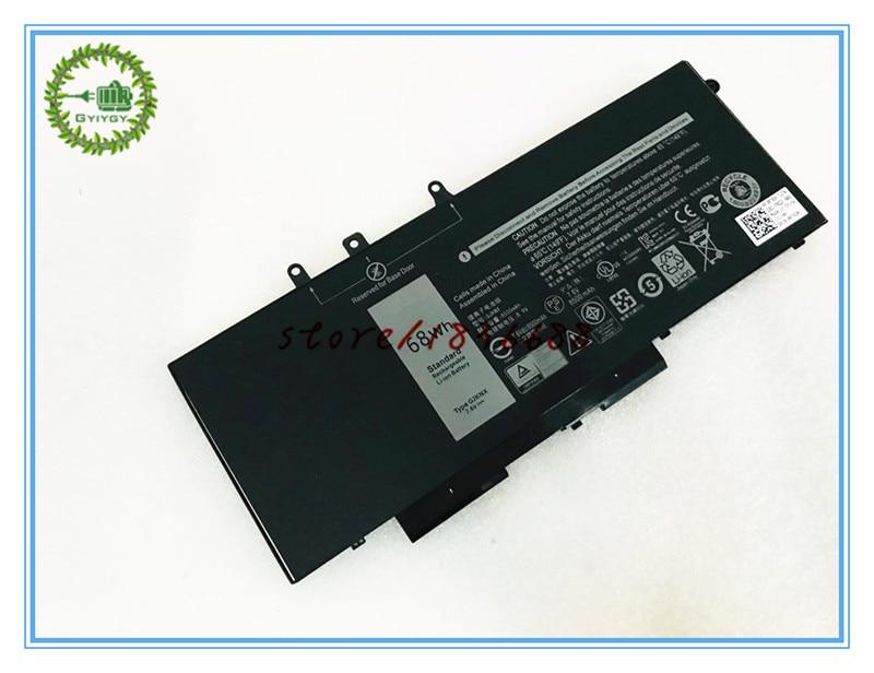 GYIYGY 7.6V 68WH Laptop Battery for Dell Latitude 15 3520 E5480 5480 5580 3520 GJKNX GD1JP