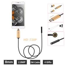 Endoscope Mobile USB Android 2 mp   Objectif Android 8MM, caméra serpent 2M, Endoscope dinspection étanche pour ordinateur portable avec OTG/UVC
