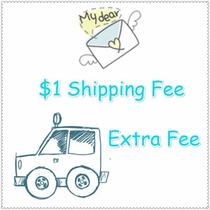 Additional Pay or Extra Fee,Custom-made Fee, Shipping Fee for your Order as Discussed,One Piece Means One Dollar