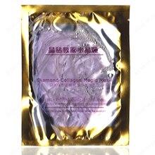 6 pièces/lot plié violet diamant cristal masque raisin collagène Facial masque ensemble multi-fonctionnel Gel masque