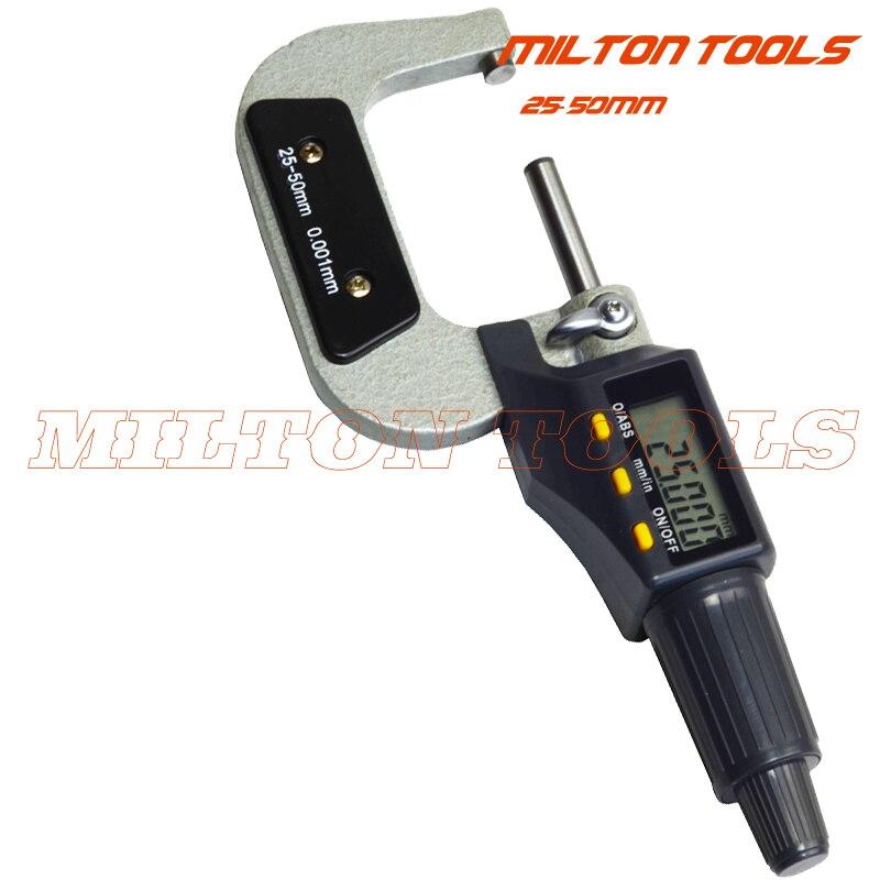 25 50 мм х 0.001 электронной цифровой Микрометр вне микрометр gauge толщиномер