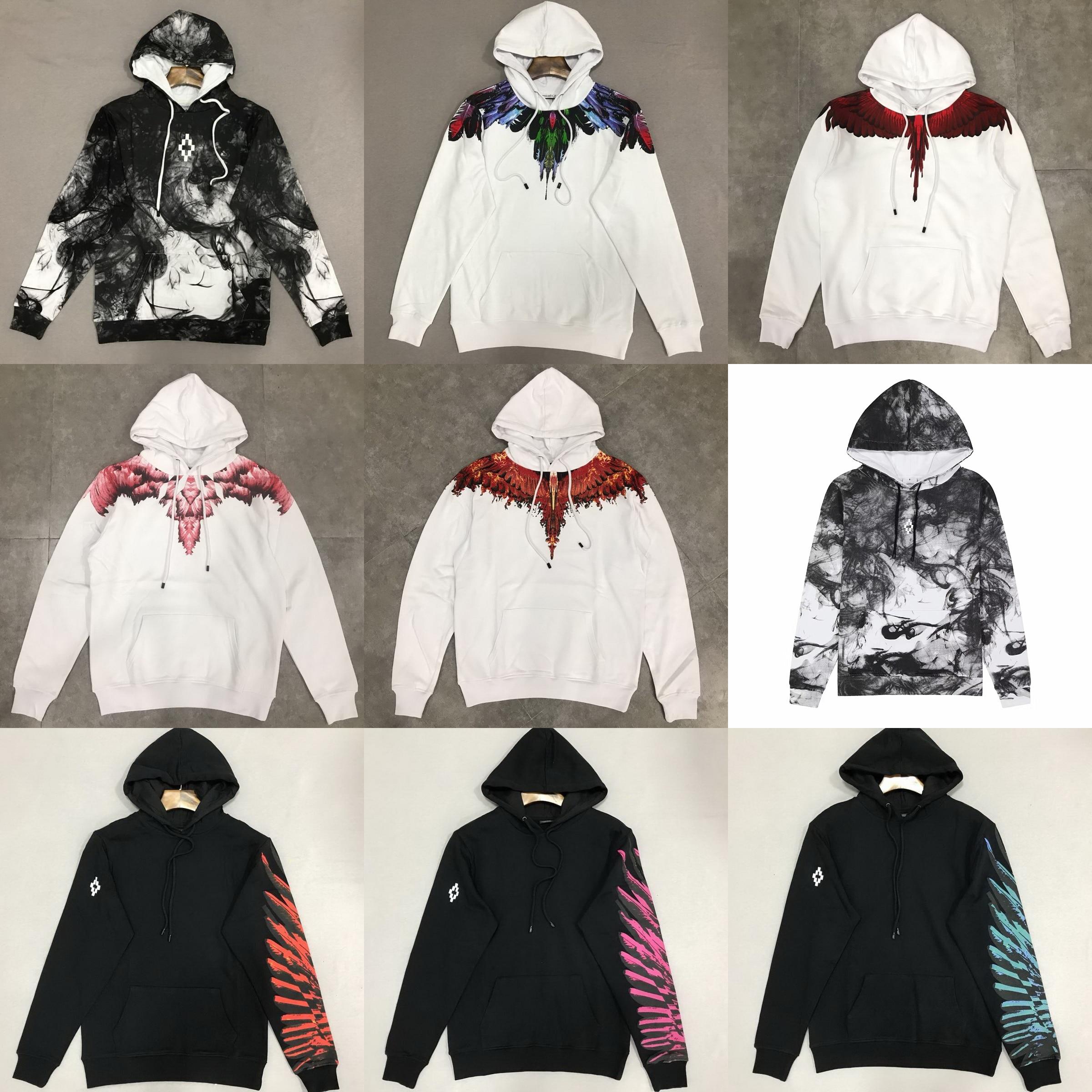 Sudadera con capucha de algodón de ala de BURLON MB de con capucha de manga larga sobre el tamaño XXS-L