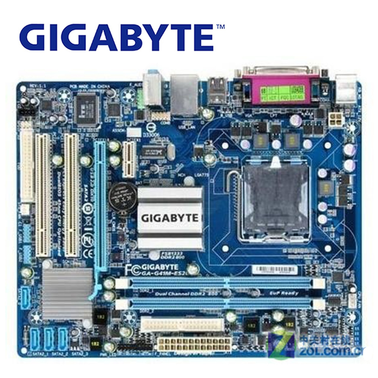 Lga 775 ddr2 para intel gigabyte GA-G41M-ES2L 100% original placa-mãe g41 G41M-ES2L desktop mainboard sata 2 systemboard usado