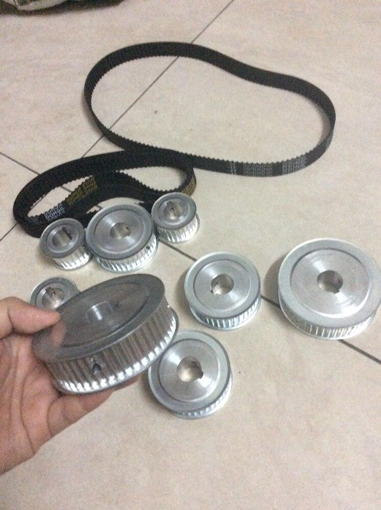 الألومنيوم بكرة ، سبيكة حزام التروس ، HTD3M ، 3 ملليمتر الملعب (3 أحزمة صغيرة بكرة بكرة + 5 كبير + 3)