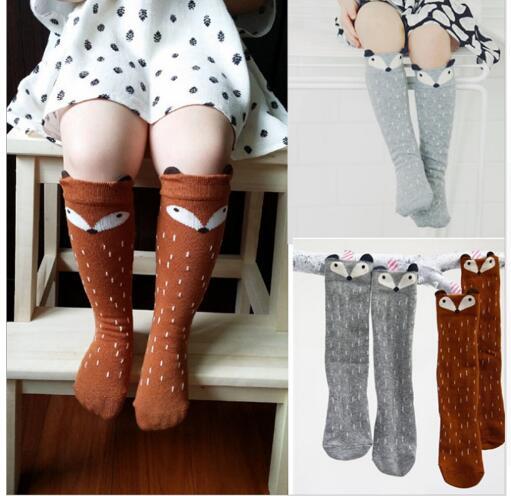 Newborn Toddler knee high sock Baby Boy bebe Girl fox Socks cotton Cute Cartoon Animal Cat leg warmers For kids sock