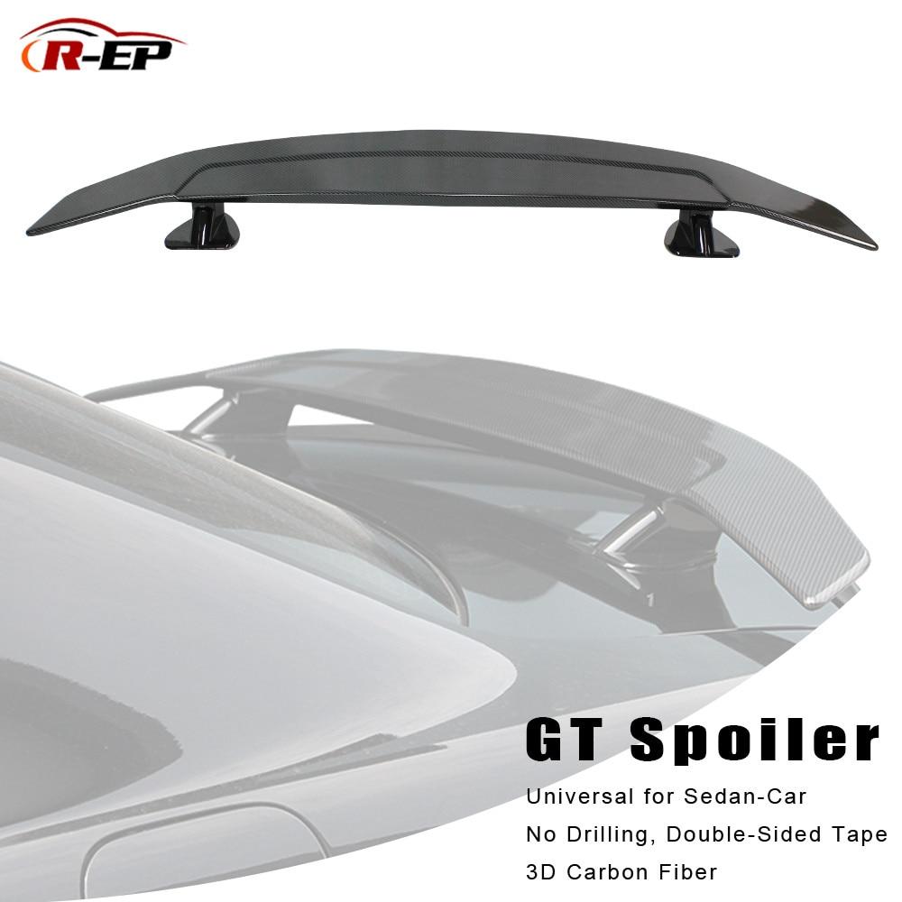 R-EP Tuning Auto Spoiler Universal für Limousine Hinten Auto 3D Carbon Fiber Hinten Fließheck Auto Stamm Flügel passend für BMW