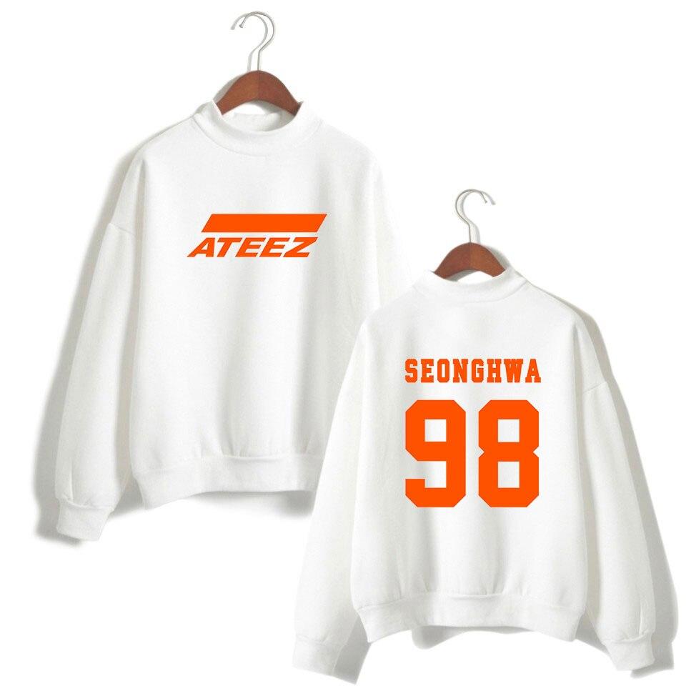 Ateez בסוודרים ארוך שרוול גולף סווטשירט באיכות גבוהה להאריך ימים יותר Hongjoong Seonghwa Yunho Yeosang סן Mingi Wooyoung Jongho