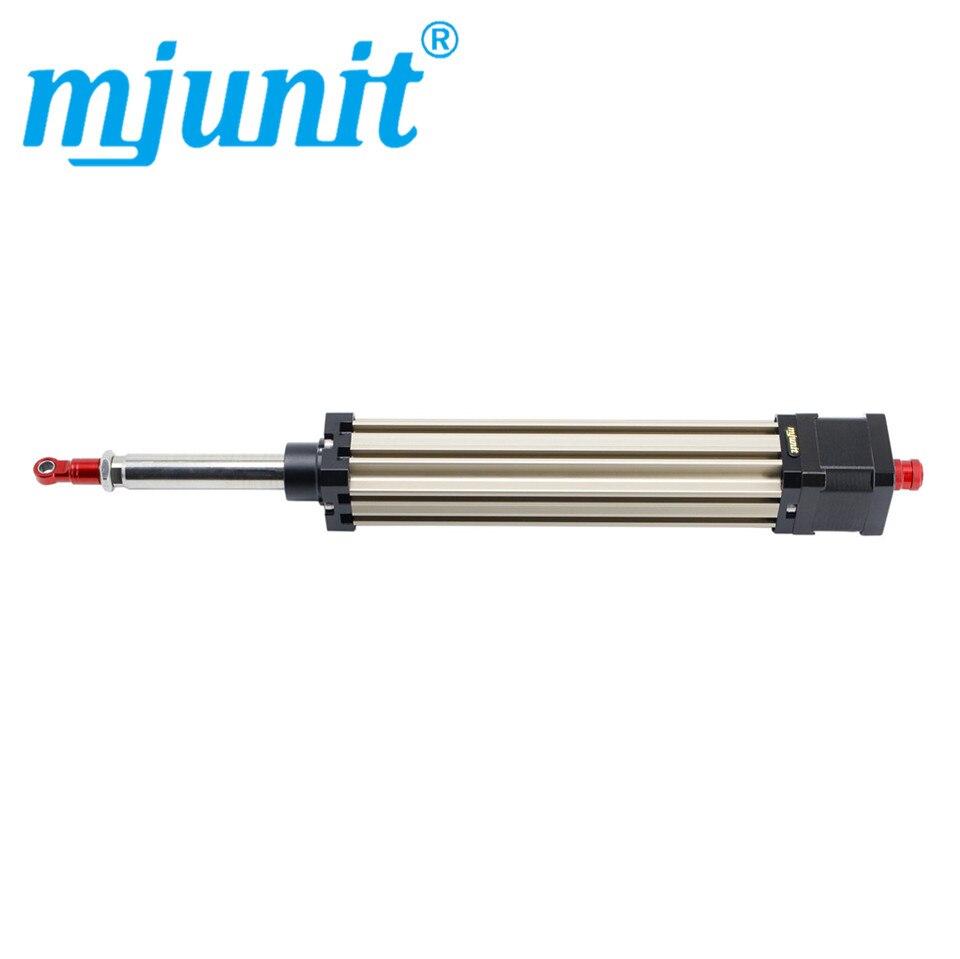 Cilindro eléctrico Mjunit 42 step motor eléctrico empuje rod viaje 100mm viaje plomo 8mm