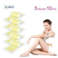 10pcslot hair removal wax strips roll underarm wax strip paper beauty tool leg body facial hair women men