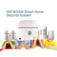 Vcare     systeme dalarme multifonction pour maison intelligente  wi-fi  GSM  avec capteur de mouvement pour porte fenetre et bouton durgence medicale  1 ensemble