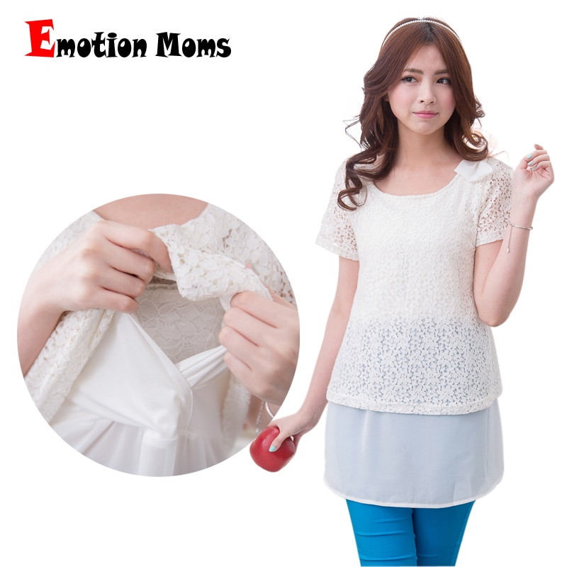 Emotion Moms New Fashion Summer Maternity Clothes for Pregnant Women Lace Breastfeeding Tops pregnancy clothes